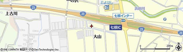 愛知県豊橋市東七根町(大山)周辺の地図