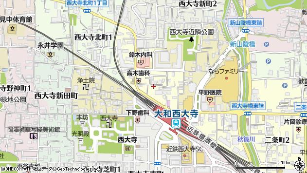 〒631-0816 奈良県奈良市西大寺本町の地図