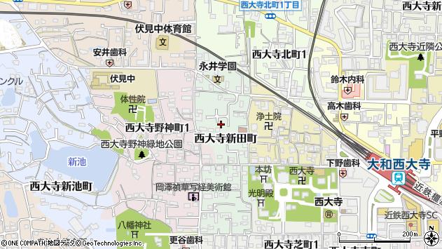 〒631-0832 奈良県奈良市西大寺新田町の地図