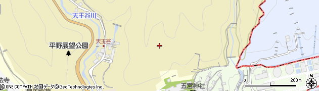 兵庫県神戸市兵庫区平野町(梅ヶ谷)周辺の地図