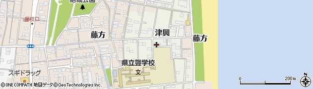三重県津市津興周辺の地図