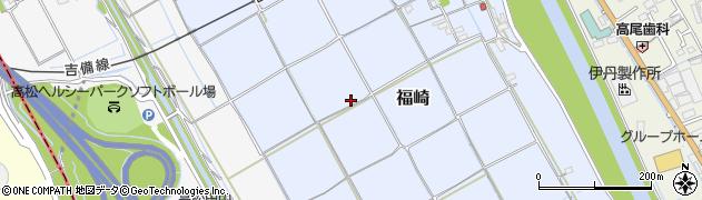 岡山県岡山市北区福崎周辺の地図