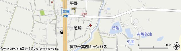 兵庫県神戸市西区平野町(芝崎)周辺の地図