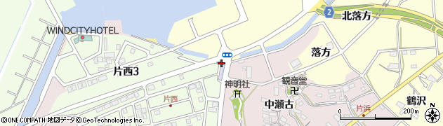 愛知県田原市片浜町(森下)周辺の地図