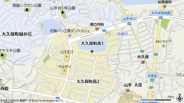 〒674-0059 兵庫県明石市大久保町茜の地図