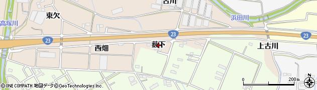 愛知県豊橋市野依町(薮下)周辺の地図