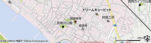 長徳禅寺周辺の地図