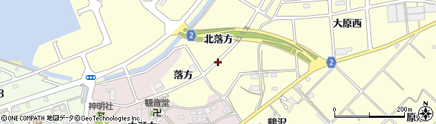 愛知県田原市浦町(北落方)周辺の地図