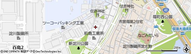 淀川製鋼所淀川寮周辺の地図