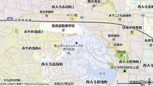〒631-0836 奈良県奈良市西大寺竜王町の地図