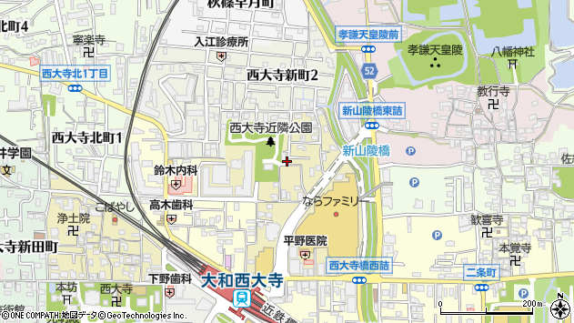 〒631-0821 奈良県奈良市西大寺東町の地図