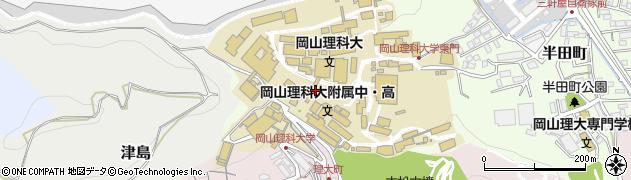 岡山県岡山市北区理大町周辺の地図