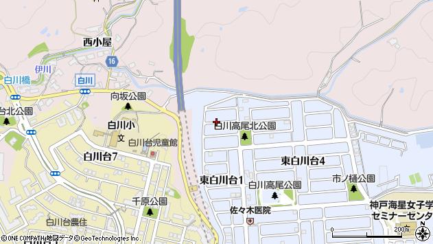 〒654-0102 兵庫県神戸市須磨区東白川台の地図