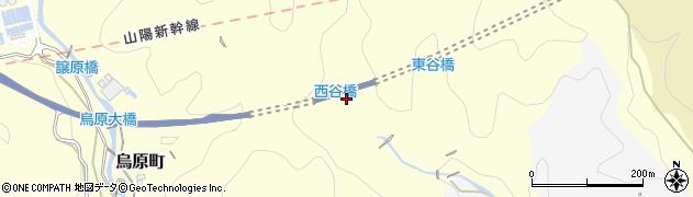 兵庫県神戸市兵庫区烏原町(西谷)周辺の地図