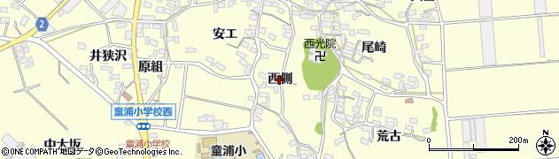 愛知県田原市浦町(西側)周辺の地図