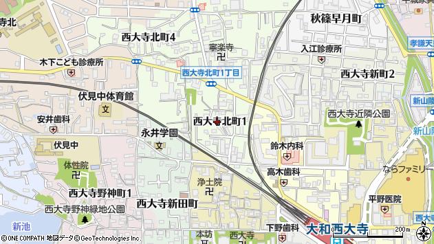 〒631-0817 奈良県奈良市西大寺北町の地図