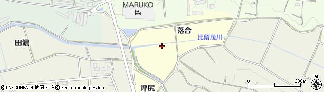 愛知県豊橋市小松原町(落合)周辺の地図