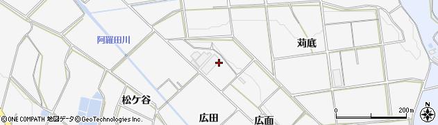 愛知県豊橋市細谷町(広面)周辺の地図