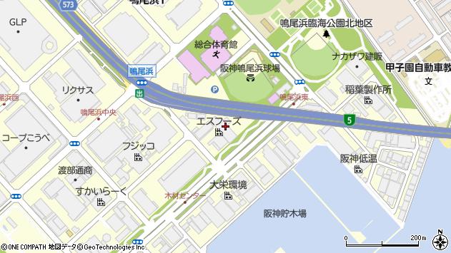 〒663-8142 兵庫県西宮市鳴尾浜の地図