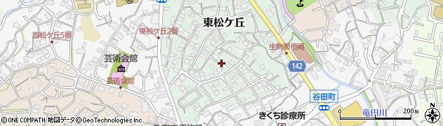 奈良県生駒市東松ケ丘周辺の地図