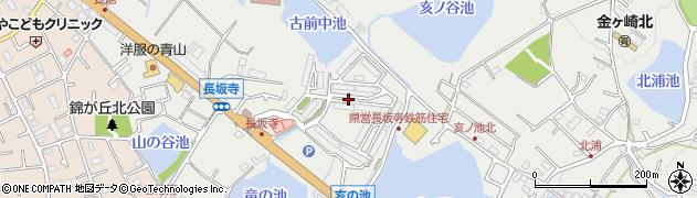 兵庫県明石市魚住町長坂寺龍ノ池周辺の地図