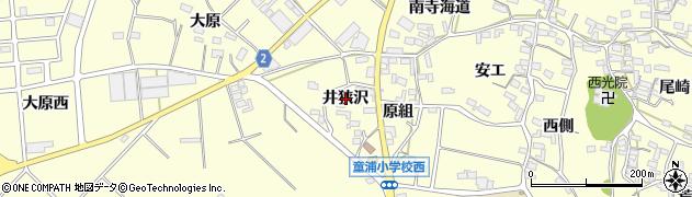 愛知県田原市浦町(井狭沢)周辺の地図