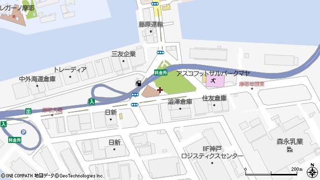 〒657-0854 兵庫県神戸市灘区摩耶埠頭の地図