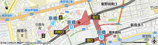 大阪府大阪市都島区周辺の地図