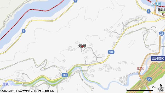 〒630-2341 奈良県山辺郡山添村遅瀬の地図