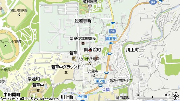 〒630-8103 奈良県奈良市興善院町の地図