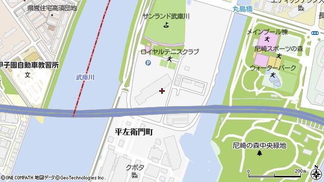 〒660-0087 兵庫県尼崎市平左衛門町の地図