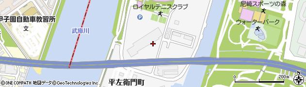 兵庫県尼崎市平左衛門町周辺の地図