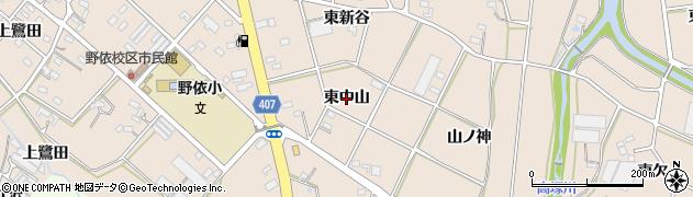 愛知県豊橋市野依町(東中山)周辺の地図