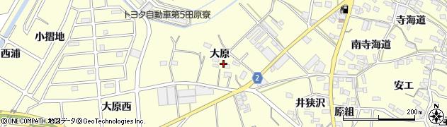 愛知県田原市浦町(大原)周辺の地図