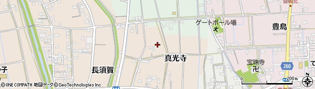 静岡県磐田市真光寺周辺の地図