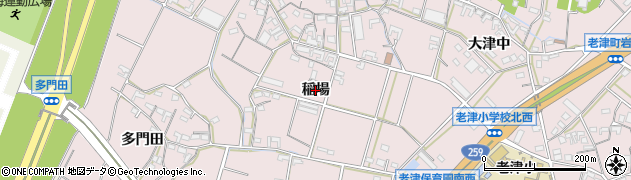 愛知県豊橋市老津町(稲場)周辺の地図
