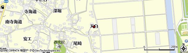 愛知県田原市浦町(天白)周辺の地図