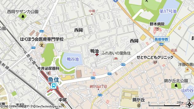 〒674-0073 兵庫県明石市魚住町鴨池の地図