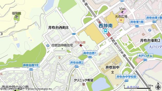 〒651-2243 兵庫県神戸市西区井吹台西町の地図