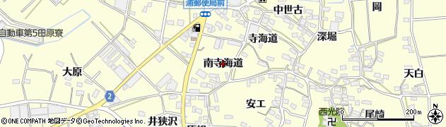 愛知県田原市浦町(南寺海道)周辺の地図