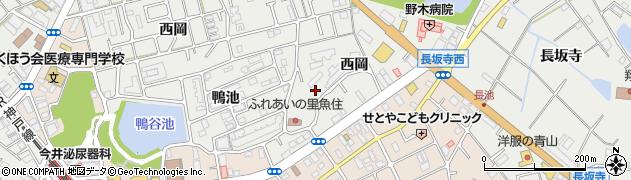兵庫県明石市魚住町西岡高岡周辺の地図