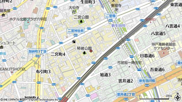 〒651-0094 兵庫県神戸市中央区琴ノ緒町の地図