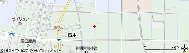 静岡県磐田市高木周辺の地図