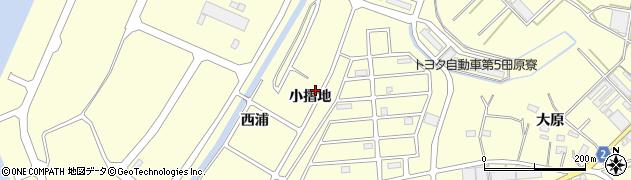 愛知県田原市浦町(小摺地)周辺の地図