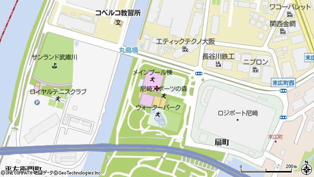 〒660-0096 兵庫県尼崎市扇町の地図