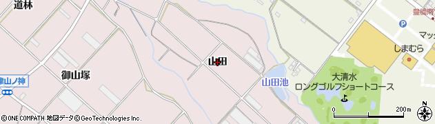 愛知県豊橋市老津町(山田)周辺の地図