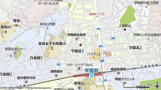 〒631-0036 奈良県奈良市学園北の地図