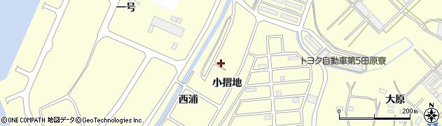 愛知県田原市浦町(西浦)周辺の地図