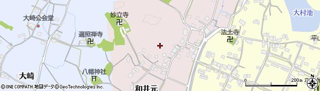 岡山県岡山市北区和井元周辺の地図