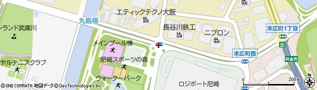 兵庫県尼崎市又兵衛喜左衛門新田周辺の地図